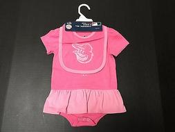 Baltimore Orioles MLB Majestic Infant Girls Size 3 Piece Cre