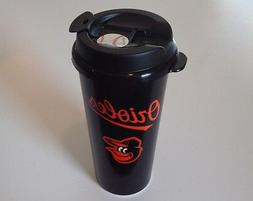 MLB Baltimore Orioles Insulated 16 Ounce Plastic Travel Mug