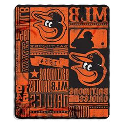 MLB Baltimore Orioles Strength 50-inch by 60-inch Printed Fl