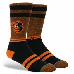 """STANCE MLB Baltimore Orioles """"The O's"""" Crew Socks Men's Larg"""