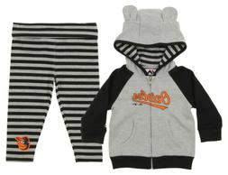 Majestic MLB Infant Girls Baltimore Orioles Great Catch Hood
