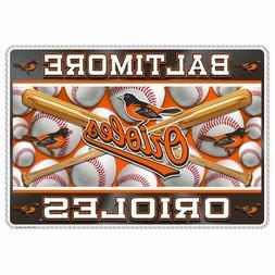 MLB Set of  Placements Baltimore Orioles O's Baseball Bat Ta