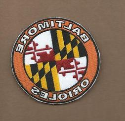 NEW 3 INCH BALTIMORE ORIOLES MARYLAND FLAG IRON ON PATCH FRE