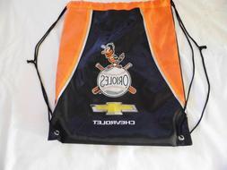 NEW Baltimore Orioles Back Pack Black/Orange Bag