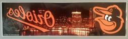 New BALTIMORE ORIOLES Large BUMPER STICKER 3x10 City Skyline