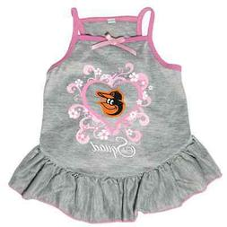 NEW BALTIMORE ORIOLES PET DOG PINK TOO CUTE SQUAD CHEERLEADE