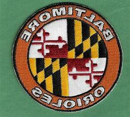 """New Baltimore Orioles 'State Flag'  Round 3"""" Iron on Patch F"""