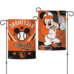 """New Disney Mickey Mouse Baltimore Orioles 2 Sided 12.5 X 18"""""""