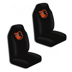 New MLB Baltimore Orioles Car Truck 2 Front Seat Covers Set