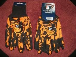 TWO PAIR OF BALTIMORE ORIOLES, SPORT UTILITY GLOVES FROM FOR