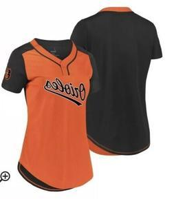 Women's Baltimore Orioles Majestic Orange/Black Size M Cool